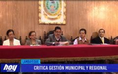 Chiclayo: Critica gestión municipal y regional