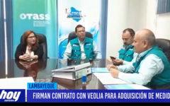 Chiclayo: Firman contrato con Veolia para adquisición de medidores