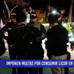 Chiclayo: Imponen multas por consumir licor en la calle