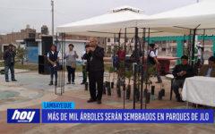 Chiclayo: Más de mil árboles serán sembrados en parques de JLO