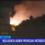 Chiclayo: Negligencia habría provocado incendio en la UNPRG