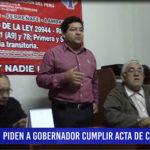 Chiclayo: Piden a gobernador cumplir acta de compromiso