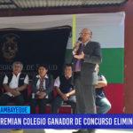 Chiclayo: Premian colegio ganador de concurso eliminación de sancudo