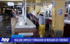 Chiclayo: Realizan limpieza y fumigación en mercados de Ferreñafe