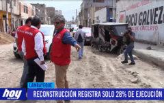 Chiclayo: Reconstrucción registra solo 28% de ejecución