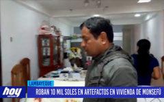 Chiclayo: Roban 10 mil soles en artefactos en vivienda en Monsefu
