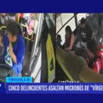 Cinco sujetos entre ellos una adolescente asaltan a pasajeros y conductor