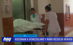 Asesinan a venezolano y niño resulta herido