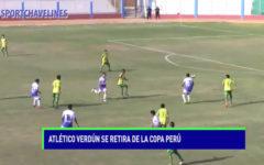 Atlético Verdún se retira de la Copa Perú