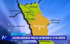 Alistan audiencia pública, será en Bolívar el 27 de agosto