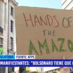 """Manifestantes gritaron: """"Bolsonaro tiene que irse"""""""