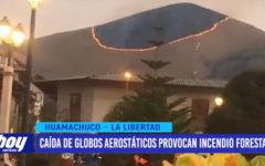 Caída de globos aerostáticos provocan incendio forestal