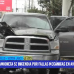 Trujillo: Camioneta se incendió por fallas mecánicas en avenida Fátima