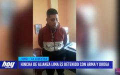 Hincha de Alianza Lima es detenido con arma y droga
