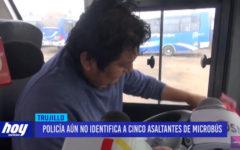 Policía aún no identifica a cinco asaltantes de microbús