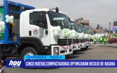 Cinco nuevas compactadoras optimizarán recojo de basura