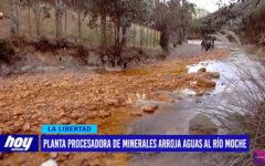 Planta procesadora de minerales arroja aguas al río Moche