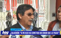 """Calderón: """"si mi hijo ha cometido un error que lo pague"""""""