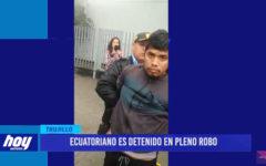 Ecuatoriano es detenido en pleno robo