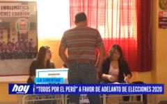 """""""Todos por el Perú"""" a favor de adelanto de elecciones 2020"""