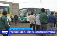 "Empresa ""California"" paraliza labores por continuos ataques extorsivos"