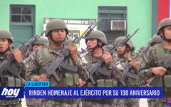 Rinden homenaje al Ejército Peruano por sus 198 aniversario