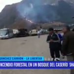 Incendio forestal en un bosque del caserío Shalar en Chugay
