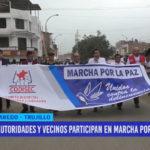 Autoridades y vecinos participan en Marcha por la Paz en Laredo