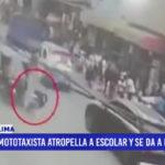 Lima: Mototaxista atropella a escolar y se da a la fuga