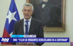 "ONU ""flujo de migrantes venezolanos va a continuar"""