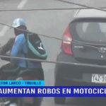 Alerta: aumentan robos en motocicletas en Trujillo