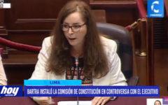 Bartra instaló la comisión de Constitución en controversia con el Ejecutivo