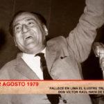 Fallece en Lima el ilustre trujillano, don Víctor Raúl Haya de La Torre