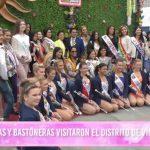 Festival de primavera: Reinas y bastoneras visitaron el distrito de Víctor Larco