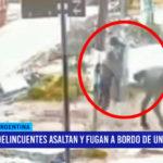 Argentina: delincuentes asaltan y fugan  a bordo de un caballo