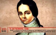 Doña Florencia de Mora otorga su testamento ante los alcaldes ordinarios