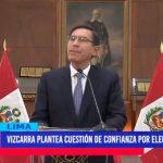Vizcarra plantea Cuestión de Confianza por elección TC