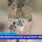 """Cinco muertos deja despiste de colectivo en """"Loma del viento"""""""
