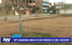 MPT abandona obras en dos parques de urbanización Covicorti
