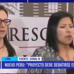 Lima: Nuevo Perú pedirá que Pleno debata proyecto de adelanto de elecciones
