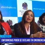 Enfermeras piden se declare en emergencia sector de salud