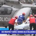 Lima: dos muertos y 15 heridos deja volcadura de minivan