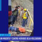 La Libertad: Un muerto y cuatro heridos deja volcadura de camioneta