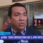 """Alfaro: """"Sería contradictorio que el APRA participe en comicios"""""""