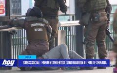 Chile: Crisis social enfrentamientos continuaron el fin de semana