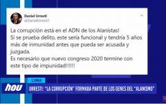 """Daniel Urresti: """"La corrupción"""" formaba parte de los genes del """"alanismo"""""""