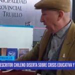 Escritor chileno diserta crisis educativa y gobernabilidad
