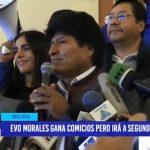 Bolivia: Evo Morales gana comicios pero irá a segunda vuelta