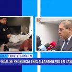 Fiscal se pronuncia tras allanamiento en casa de Rómulo León
