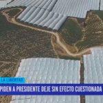 Piden presidente deje sin efecto cuestionada Ley Agraria